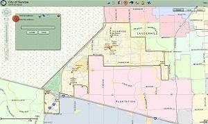 Map Of Sunrise Florida.City Of Sunrise Fl Gis Maps