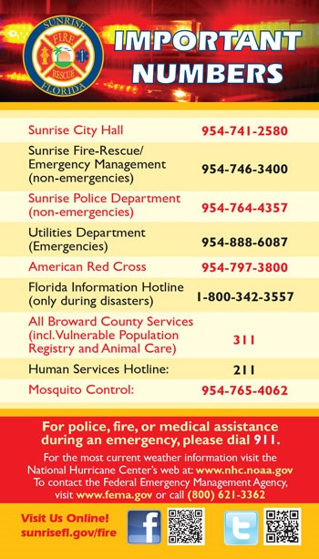 Emergency Management Contact Information