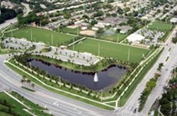 Aerial view of Soccer Club Park