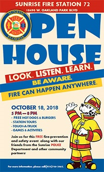 Fire Rescue - Open House Flyer thumbnail