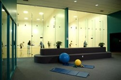 Racquetball court reservations are available to members