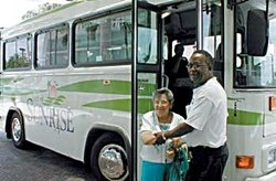 Sunrise provides low-cost mini-bus transportation