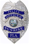 Sunrise Police Badge