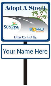 Your Name Here sample Adopt A Street sign