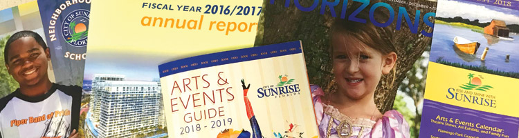 City of Sunrise printed publications
