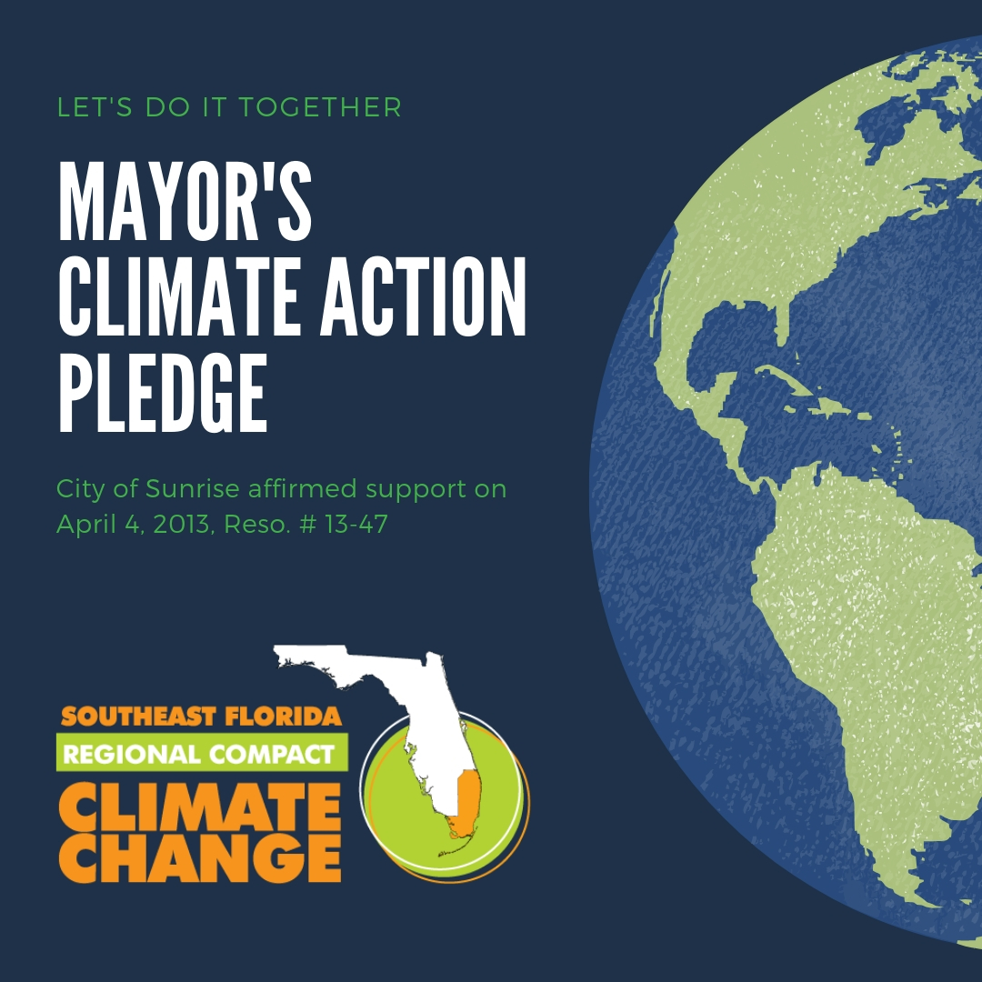 Mayor's climate action pledge through the Southeast Florida Regional Climate Change Compact