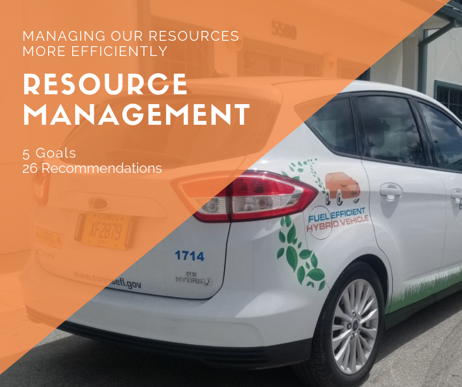 Resource Management - managing our resources more efficiently