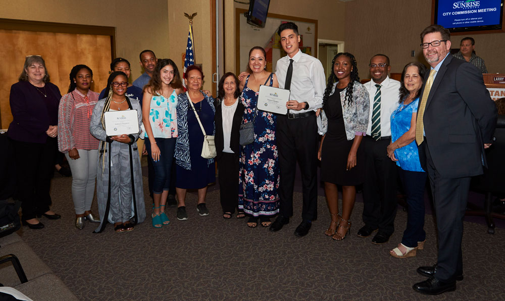 Sunrise's 2019 scholarship presentation at City Commission meeting