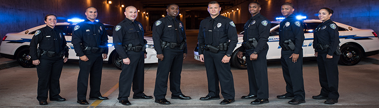 Police Officers In A Group