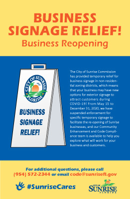 COVID-19 Business Sign Relief Brochure Cover